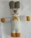 Doudou chien en laine, tricoté main, jouet peluche fait main, décoration chambre enfant ou bébé, cadeau, naissance, anniversaire