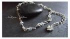 Un bracelet wire wrap cuivre et verre