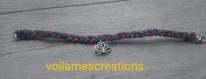 Bracelet suédine et fleur de lotus