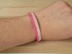 Bra 121 petit bracelet rose modèle 1