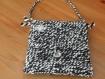 Trc 028 sac pochette laine noire et blanche