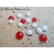 10 billes de verre fondu à coller pour customiser vos bijoux