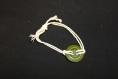 Bracelet cordage coton-bouton