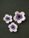 Lot de 5 fleurs au crochet
