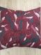 Housse coussin portefeuille carré 45 x45 cm coton épais pétales