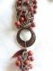 Collier en graines tagua et açaï rouge
