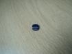Cinqs boutons forme carré bleu trois ton   10-31 +4