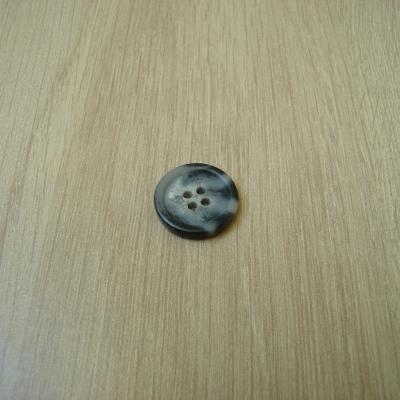 Bouton noir marbré gris avec rebord   9-17  +2