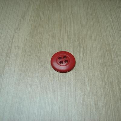 Boutons moyen rouge contour avec rebord  6-42