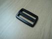 Passant double plastique 46mm noir pour sac   tb