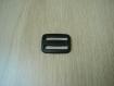 Passant double rectangle plastique noir   tb