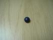 Bouton à queu plastique bombé bleu 28-70