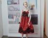 Robe barbie model muse halloween fr2 nu face fashion doll mini egerie