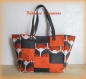 Sac à main patchwork pixel orange