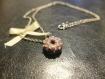 Collier chaîne argenté breloque donut