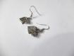 Boucles d'oreilles argenté vieilli avec breloques