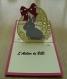 Carte kirigami lapin de pâques