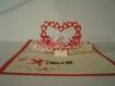 Carte kirigami i love you