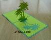 Carte kirigami cocotiers