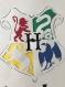 Blason poudlard harry potter personnalisable