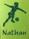 Footballeur enfant personnalisable à encadrer, idée cadeau fait main