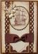 Carte masculine marron et beige voilier gros ruban toute occasion