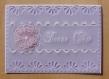Carte pergamano fête des mères - fête des grand-mères fleur violette