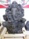 Piece rare ! moulage ciment statue ganesh patinée main 56x35 cm. poids 45 kg