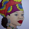 Dessin De Femme Africaine dessin visage femme africaine : par eliecreation