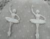 Lots de deux trés belles danseuses en platre