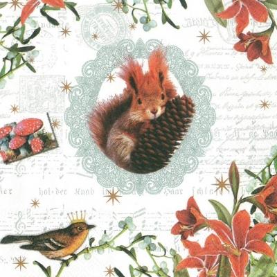 Serviette en papier écureuil (474)