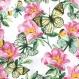 Serviette en papier fleurs et papillons ref- 539