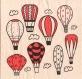 Serviette en papier montgolfières ref - 533