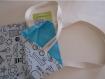 Tote bag à colorier / sac / cabas - rÉversible - 36 x 26 cm plage,vacances,shopping,nounou,doudou,École,bibliothÈque - enfant / adulte - mer,encre,phare,bateau - blanc,noir,bleu,turquoise