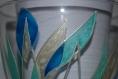 Vase en verre peint voiles modernes sur commande