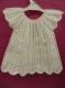 Robe layette en barisienne coloris blanc