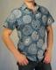 Chemise homme blue circle. manches courtes 100% coton. taille m et l.