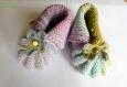 Chaussons hollandais pour bébé fille multicolore 3 mois