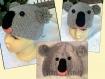 Bonnet tricot koala