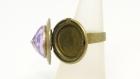 Bague bronze ouvrante cristal