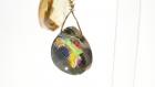 Boucles d'oreilles , en or gold filled et cristal swarovski ,pendantes