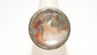 Bague ronde en métal bronze, réglable