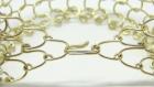 Bracelet en maille d'aluminium doré