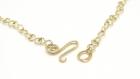 Collier pendentif en maille d'aluminium doré