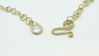 Collier pendentif en aluminium doré et perle