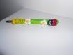 1 stylo bille recostumisé cocinelle en pate polymère / fimo