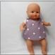 Patron tablier croisé dos pour poupée, poupon ou peluche 30/34 cm
