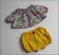 Patron et explication de la tunique et du bloomer pour poupon ou peluche de 30/34 cm.