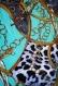 Ensemble tunique asymétrique et sarouel ' bijoux bleu...'