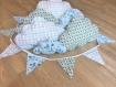 Guirlande de fanions en tissu pour garçon thème bateau